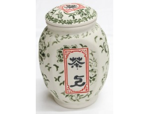 "Чайница ""Цветок"" из фарфора зеленая (150 гр)"