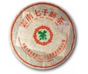 Шен пуэр (зеленый) юннань чи цзе бинг , 1998 года, 357 г