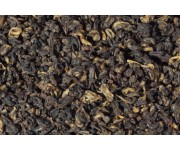 Китайский чай в банках красные спирали с золотым ворсом