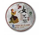 Китайский чай в упаковке 2-х летний блин 250 г с девочкой
