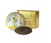 Китайский чай в упаковке 5-летний лиминг , китайская беседка, 357 г