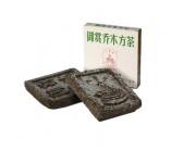 Китайский чай в подарочной упаковке 5-летний ю шанг цяо му 200 г в плитках (китайская беседка)
